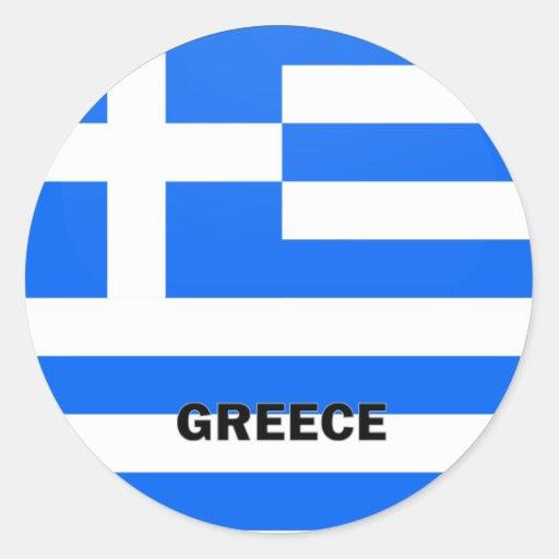 Grekland Roundel kvalitets- flagga Rund Klistermärke