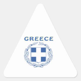 GREKLAND vapensköld Triangle Stickers