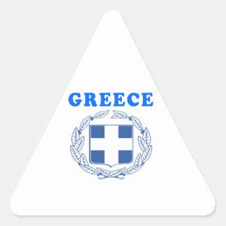 Grekland vapenskölddesigner triangle sticker