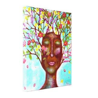Gren ut & blommarkonst canvastryck