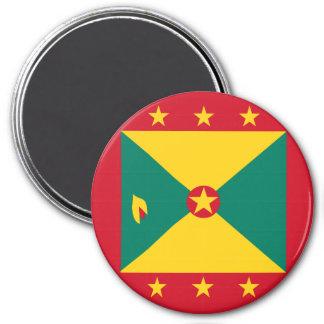 Grenada flagga magnet rund 7.6 cm