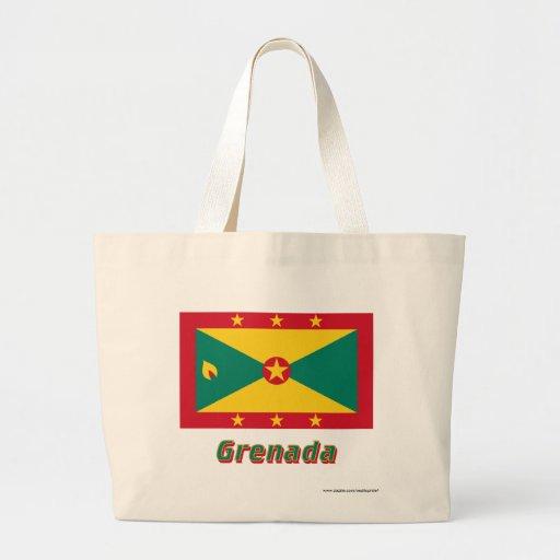 Grenada flagga med namn tygkassar