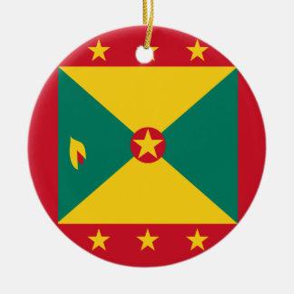 Grenada flagga rund julgransprydnad i keramik