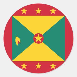 Grenada flagga runt klistermärke