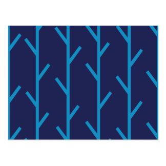 Grenblått Vykort