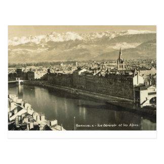 Grenoble alpes för vue-generaledes vykort