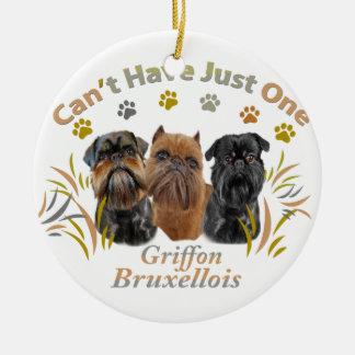 Griffon Bryssel kan inte ha precis en Julgransprydnad Keramik