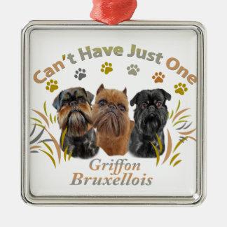 Griffon Bryssel kan inte ha precis en Julgransprydnad Metall