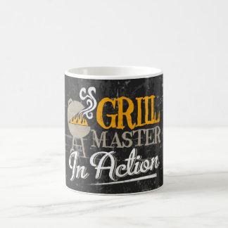 Grilla ledar- i handling kaffemugg