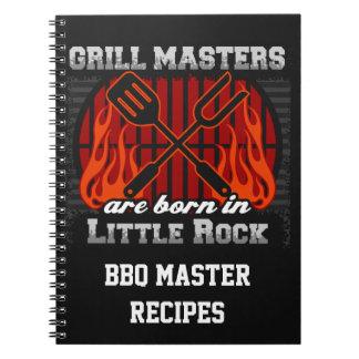 Grilla Masters är bördig Little rock Arkansas Anteckningsbok Med Spiral