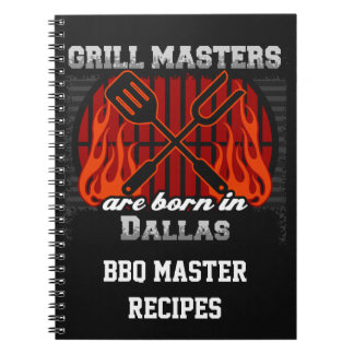 Grilla Masters är bördiga Dallas Texas Anteckningsbok