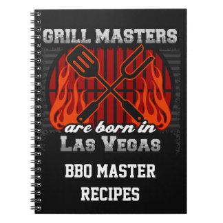 Grilla Masters är bördiga Las Vegas Nevada Anteckningsbok Med Spiral