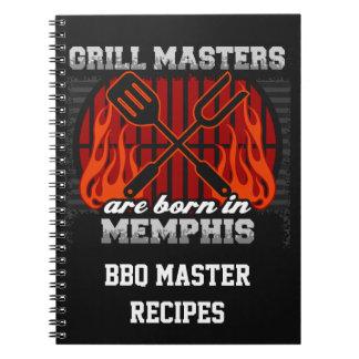Grilla Masters är bördiga Memphis Tennessee Anteckningsbok Med Spiral