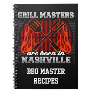 Grilla Masters är bördiga Nashville Tennessee Anteckningsbok