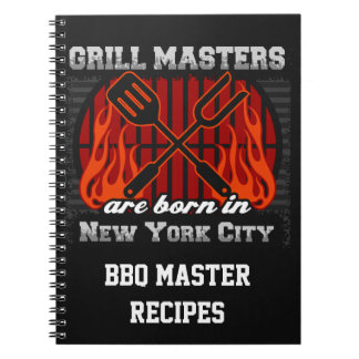 Grilla Masters är bördiga New York City Anteckningsbok Med Spiral
