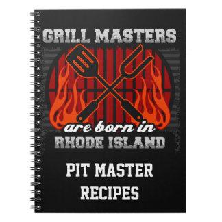 Grilla Masters är bördiga Rhode - ön personifierar Anteckningsbok Med Spiral
