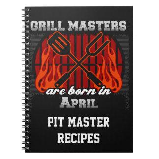 Grilla Masters är den bördiga April personligen Anteckningsbok