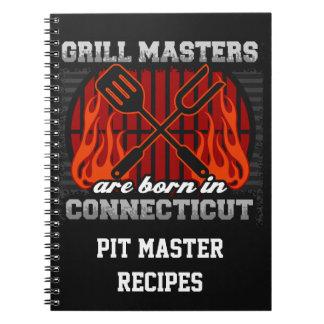 Grilla Masters är den bördiga Connecticut Anteckningsbok Med Spiral