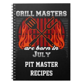 Grilla Masters är den bördiga Juli personligen Anteckningsbok Med Spiral