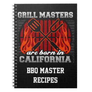 Grilla Masters är den bördiga Kalifornien Anteckningsbok