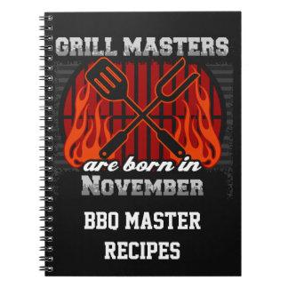Grilla Masters är den bördiga November personligen Anteckningsbok
