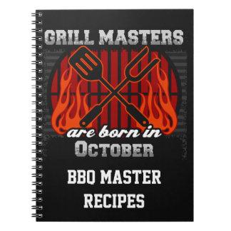 Grilla Masters är den bördiga Oktober personligen Anteckningsbok Med Spiral