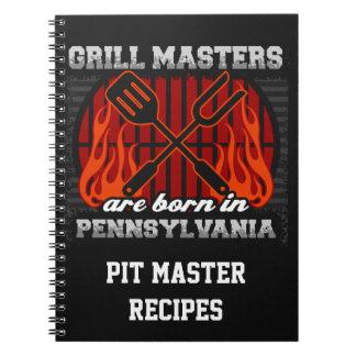 Grilla Masters är det bördiga Pennsylvania recept Anteckningsbok