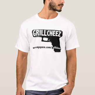 Grilla myspace för logotypen för det Cheez Tshirts