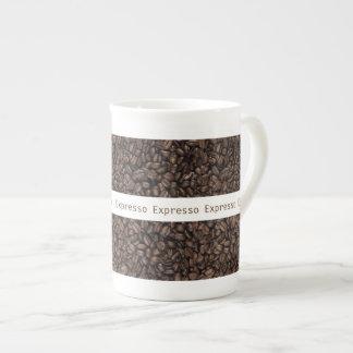 Grillad mugg för kaffebönabenporslin tekopp
