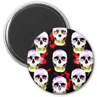 Grina den gotiska magneten för döskallar magnet rund 5.7 cm