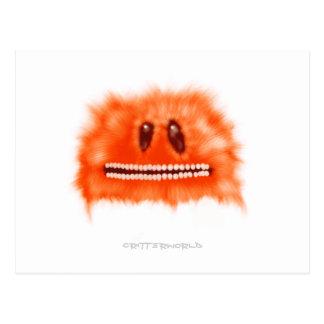 Grina det orange Fluffball nötkreatur Vykort