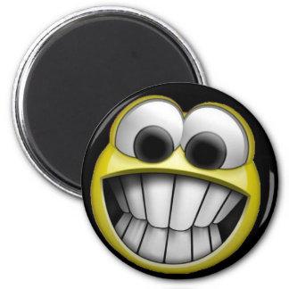 Grina lycklig smiley face magnet rund 5.7 cm