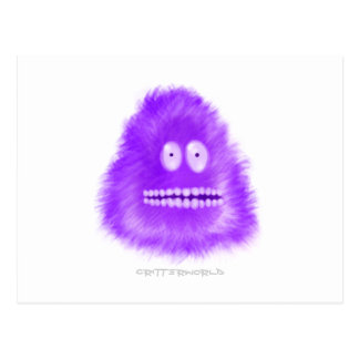 Grina purpurfärgat nötkreatur vykort
