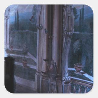 Grindar Windows överbryggar konstnärlig Fyrkantigt Klistermärke