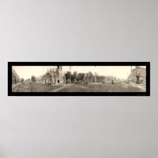 Grinnell brett St-foto 1907 för IA Poster