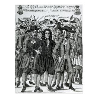Gripandet av domaren Jeffreys 1689 Vykort