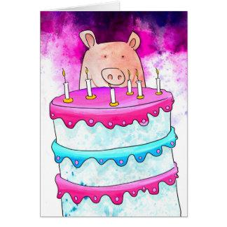 Grisfödelsedagkort Hälsningskort