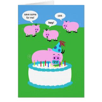 Grisfödelsedagkort OBS Kort