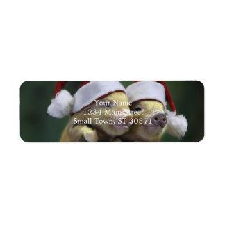 Grisjultomten - julgris - tre grisar returadress etikett