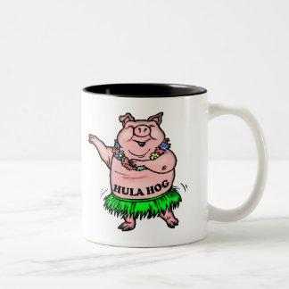 GrisT-tröja och grisgåvor Två-Tonad Mugg