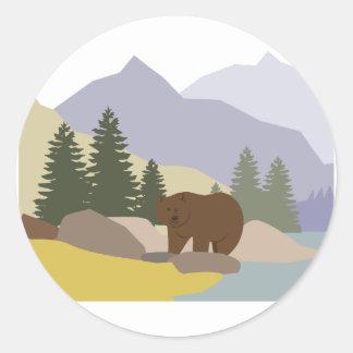 Grizzly Alaska Runt Klistermärke