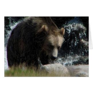 Grizzly Hälsningskort