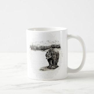Grizzly på stenmuggen kaffemugg