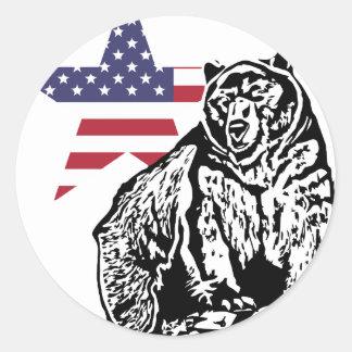 Grizzly US2 Runt Klistermärke