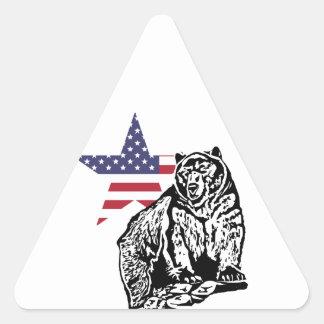 Grizzly US2 Triangelformat Klistermärke