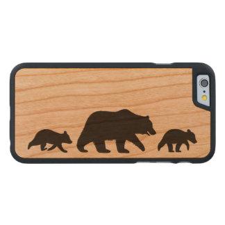 Grizzlybjörn med ungeSilhouettes Carved® Körsbärstr iPhone 6 Slim Fodral