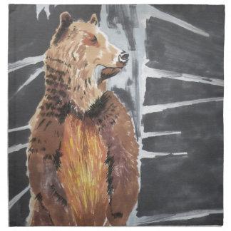 Grizzlybjörn Tygservett
