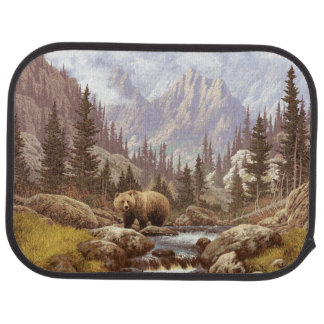 Grizzlybjörnen landskap den bakre bilmattan bilmatta