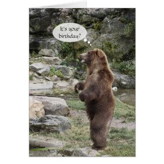 Grizzlybjörnstående ovationer hälsningskort