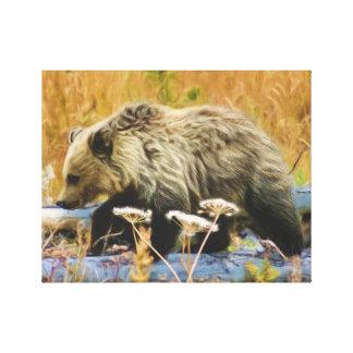 Grizzlybjörnunge Canvastryck